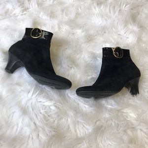 Magnolia Black Suede Beautifeel Ankle Boots